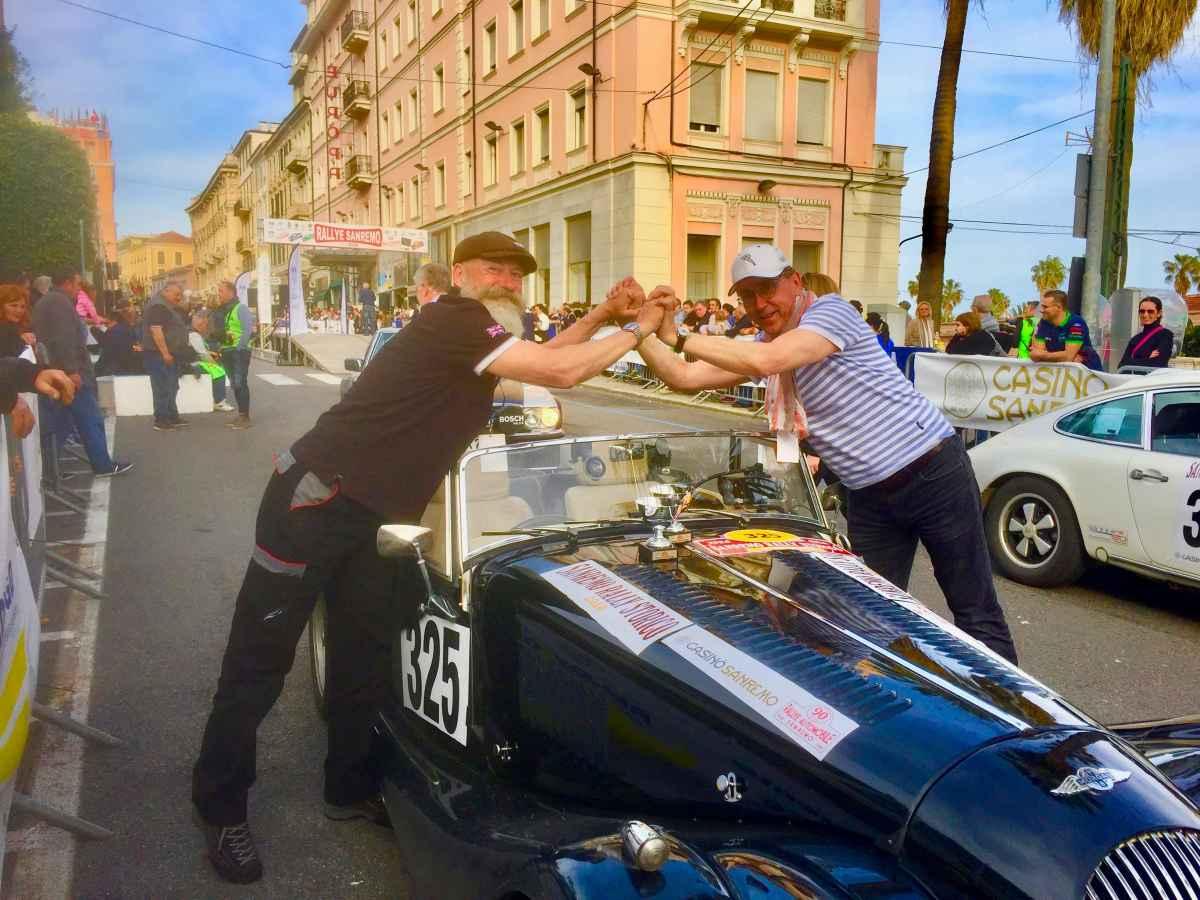 Tafelsilber für FX & Rolf am Rally Sanremo